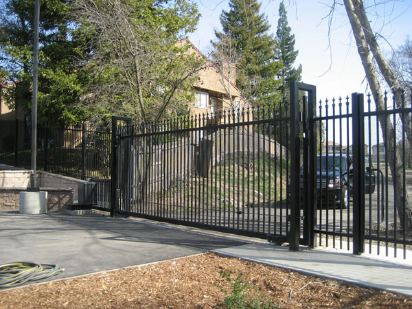 Wrought Iron Driveway Gate - Bakersfield