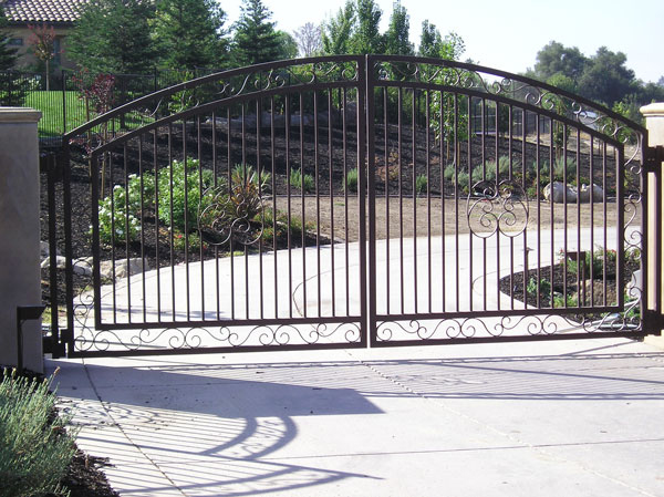 Wrought Iron Driveway Gates - Bakersfield, CA