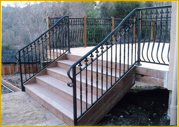 Ornamental Wrought Iron Stair Railings  - Bakersfield, CA